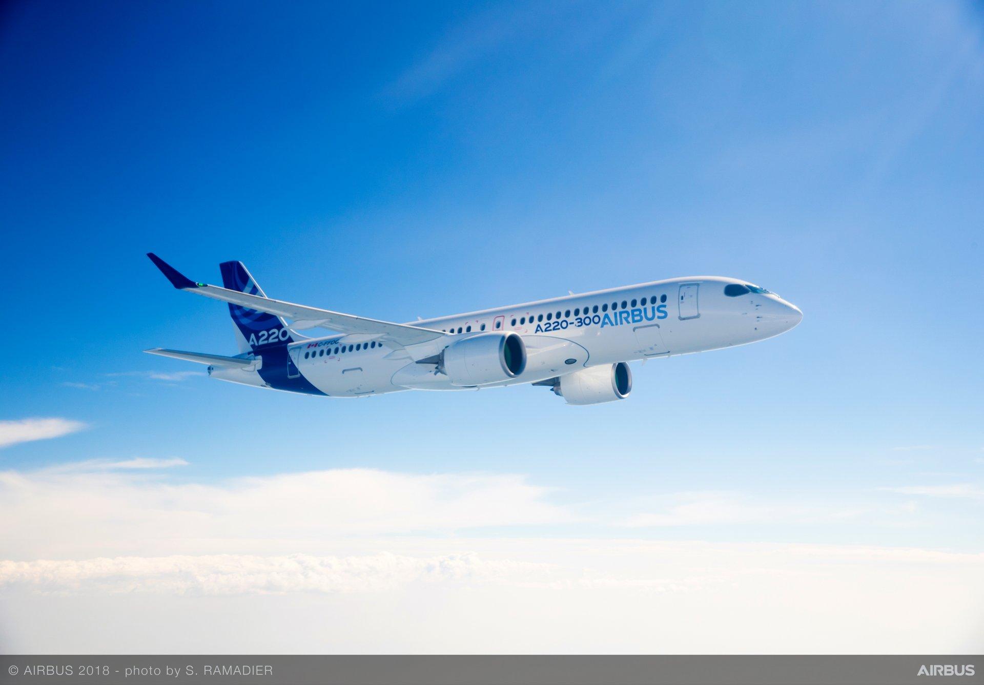Airbus A220 se embarca en una gira de demostración por Asia