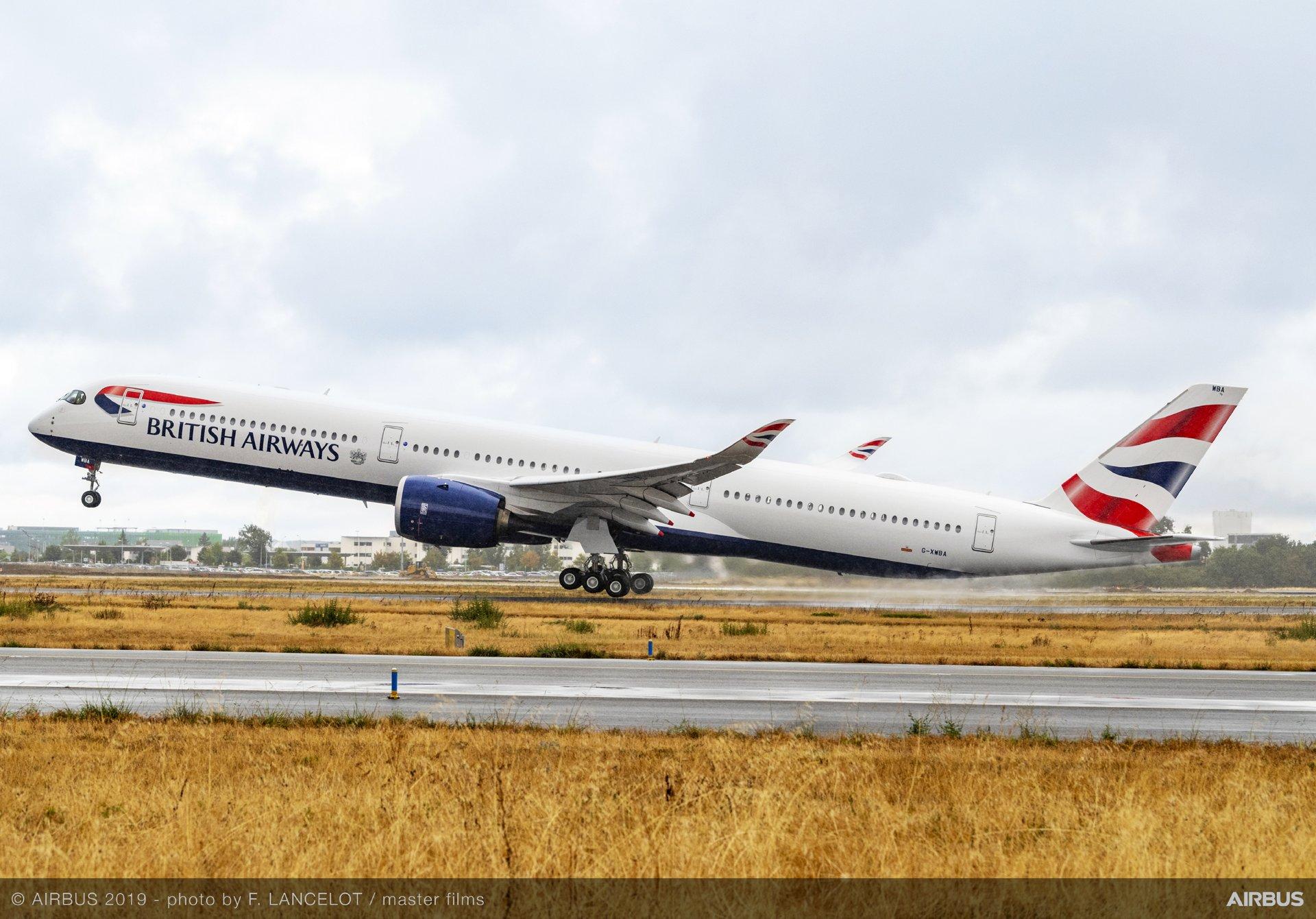 British Airways recibe su primer A350-1000