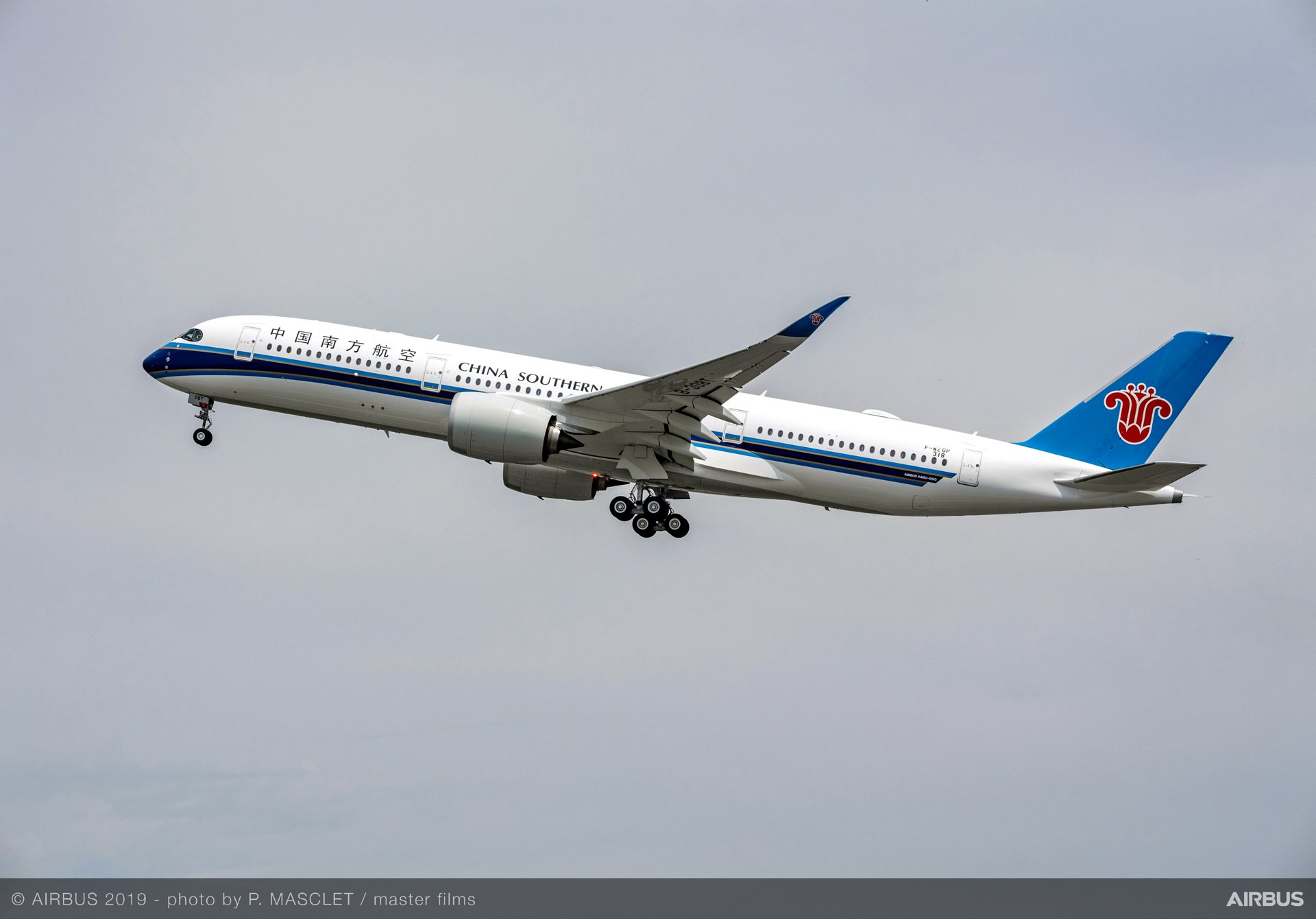 China Southern Airlines recibe su primer Airbus A350-900