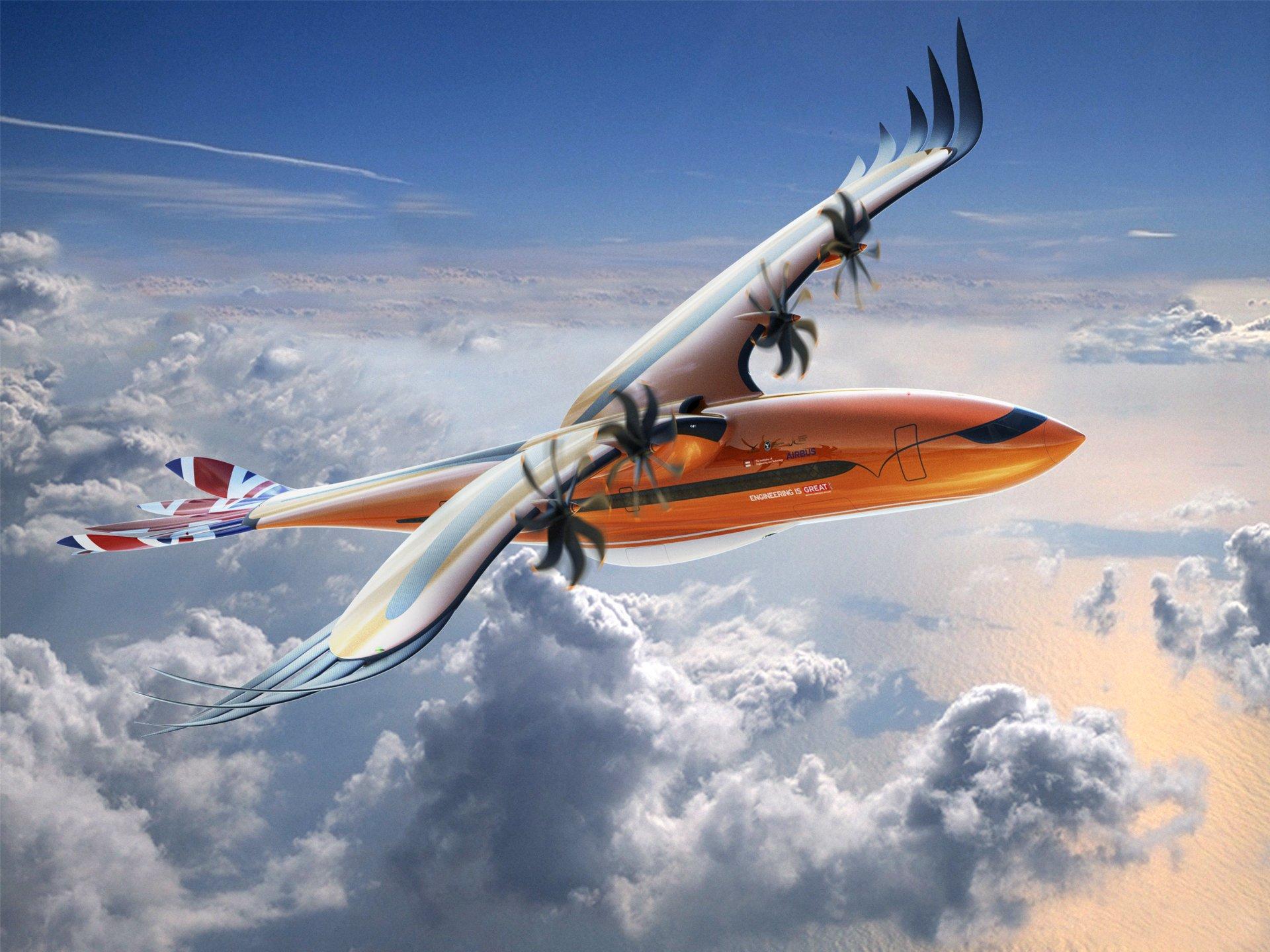 """Un avión de pasajeros conceptual futurista de Airbus """"toma vuelo"""" para inspirar a los ingenieros de la próxima generación"""