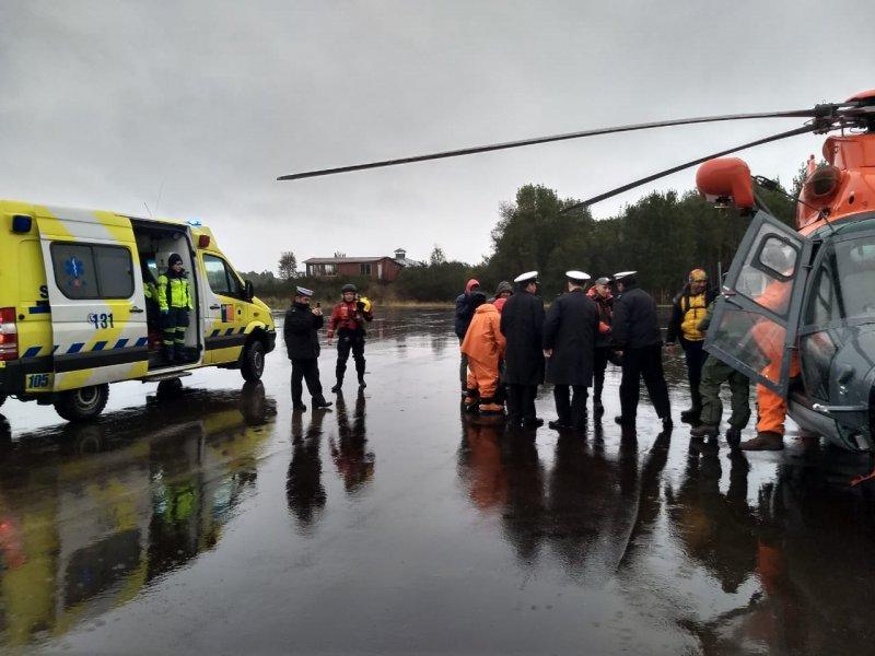 Armada rescata seis tripulantes ilesos en las cercanías de Chiloé