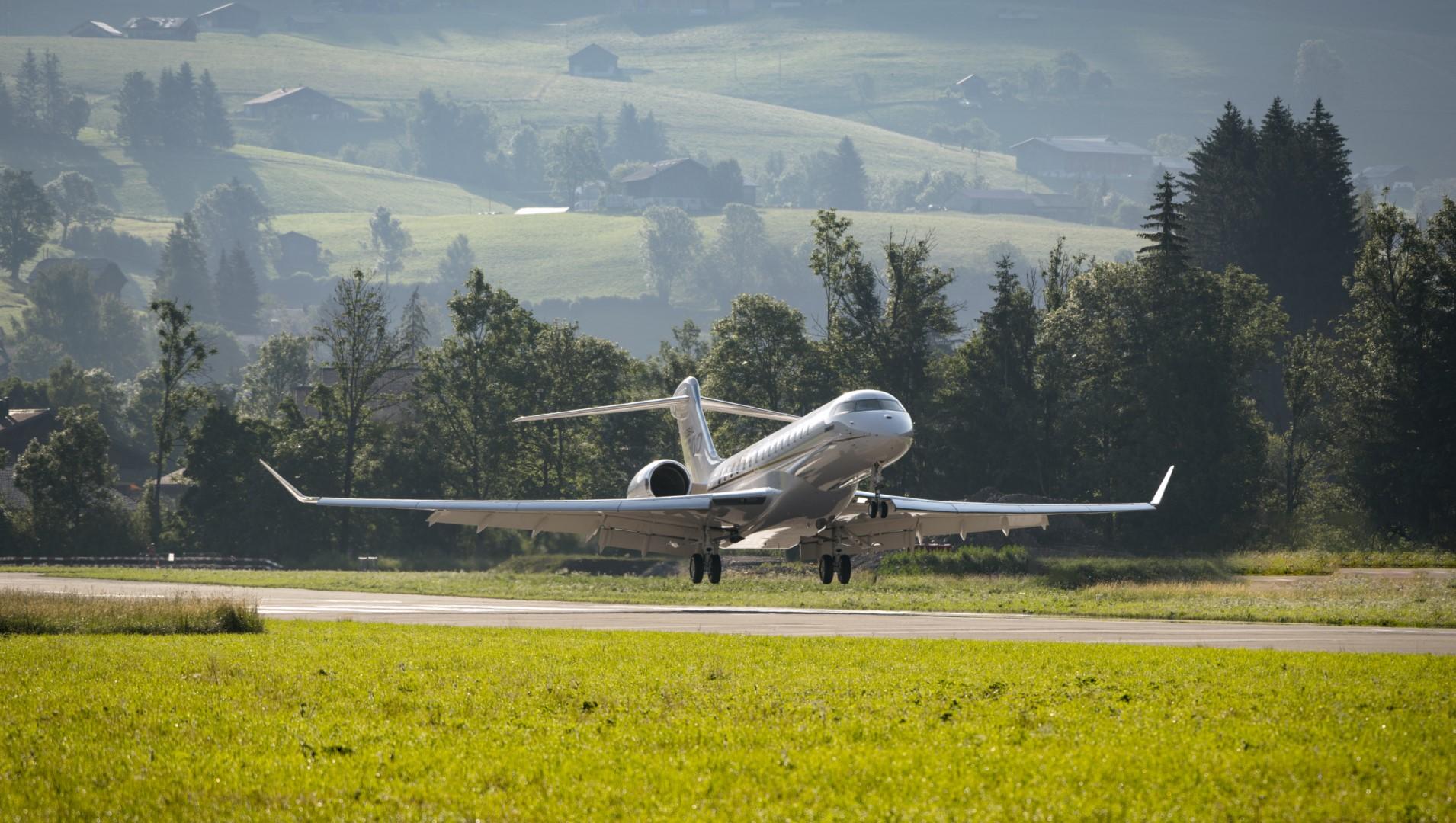 El Global 7500 de Bombardier, alcanza nuevas alturas en el corazón de los Alpes suizos