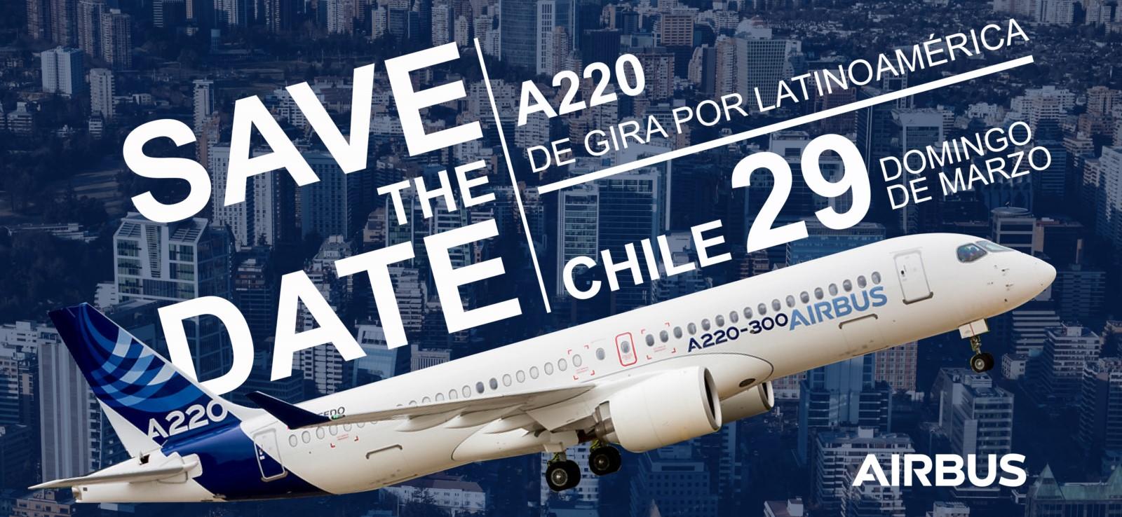 Airbus anuncia fecha de arribo para el A220 a FIDAE 2020