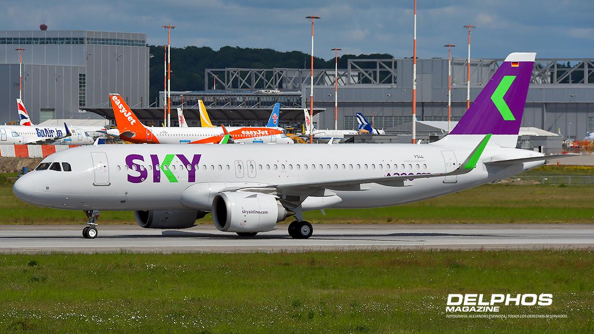 Penúltimo SKY A320 Neo, CC-AZT realizó pruebas en la Planta Airbus en Hamburgo