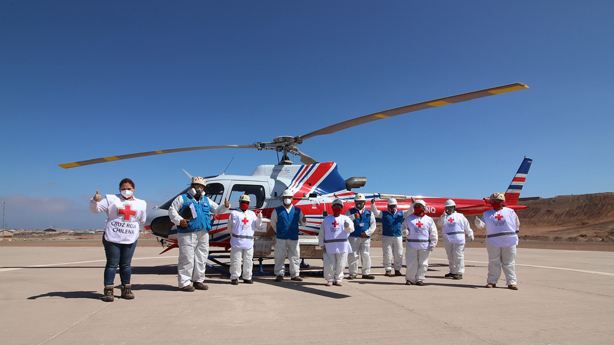 Airbus, Cruz Roja Chilena, Servicios Aereos Kipreos y Servicios Aereos SumaAir apoyan la lucha contra el COVID-19 en Chile