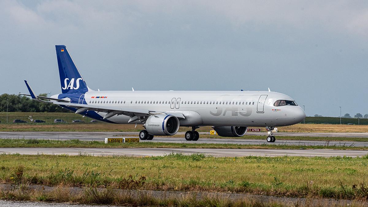 SAS recibe su primer A321LR con combustible sostenible