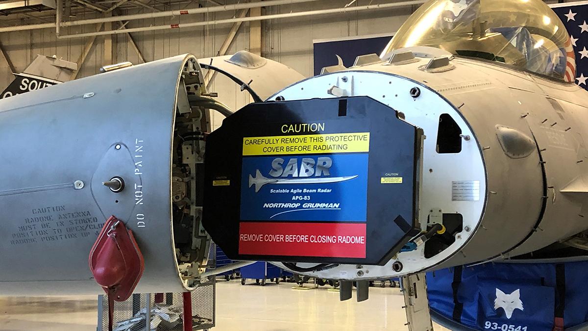 la Guardia Aérea Nacional instalado los Radares APG-83 en sus F-16