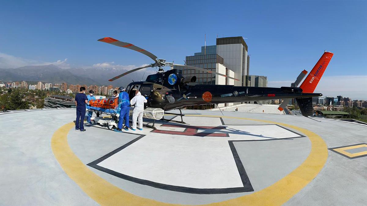 Ecocopter realiza traslado de paciente Covid-19