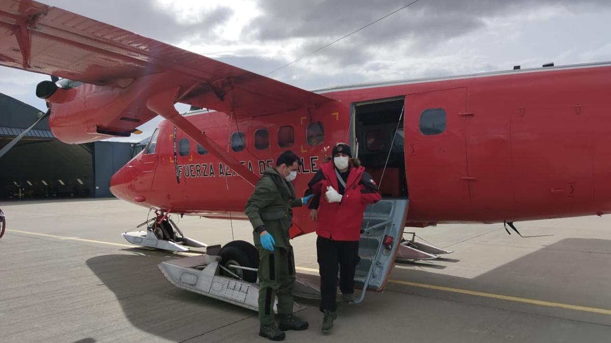 FACH realizo evacuación Aeromédica  de la Antartica