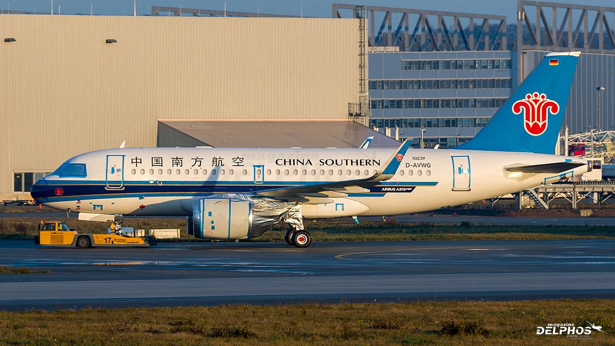 Primer Airbus A319Neo de China Southern esta listo, pero aún no será entregado