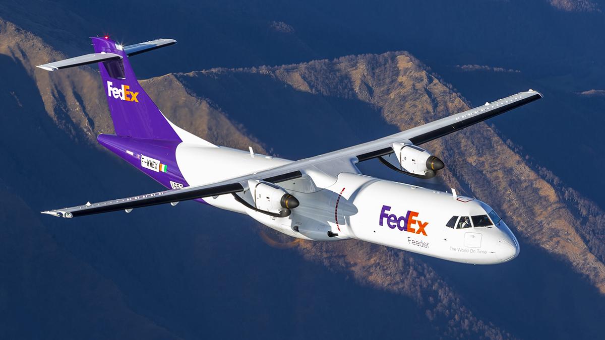 Primer avión ATR 72-600F entregado a FedEx Express